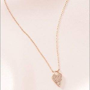 Stella & Dot - Delicate Heart Necklace - Rose Gold